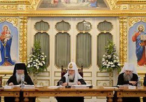 Святейший Патриарх Кирилл возглавил заседание Попечительского совета по восстановлению Валаамского монастыря