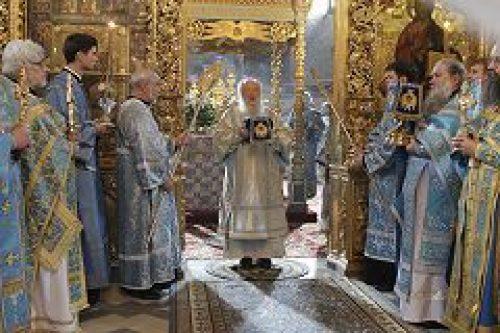 В Новодевичьем женском монастыре отметили престольный праздник