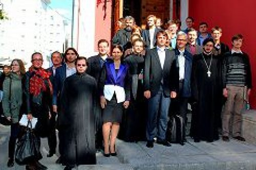 Группа студентов богословских факультетов из Германии посетила Общецерковную аспирантуру