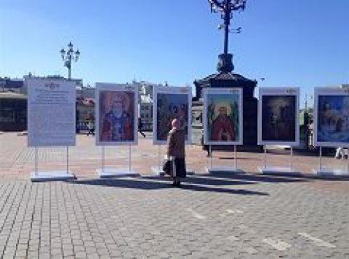 В Храме Христа Спасителя открылась выставка победителей конкурса детского творчества «700-летие со дня рождения преподобного Сергия Радонежского»
