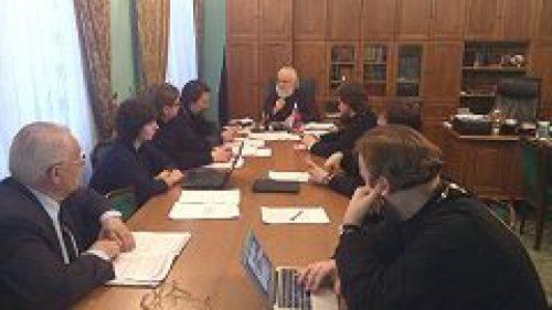 В Московской духовной академии состоялось очередное заседание коллегии Учебного комитета