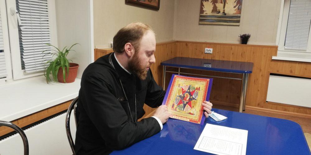 В храме Смоленской иконы Божией Матери провели беседу с воинами-спасателями