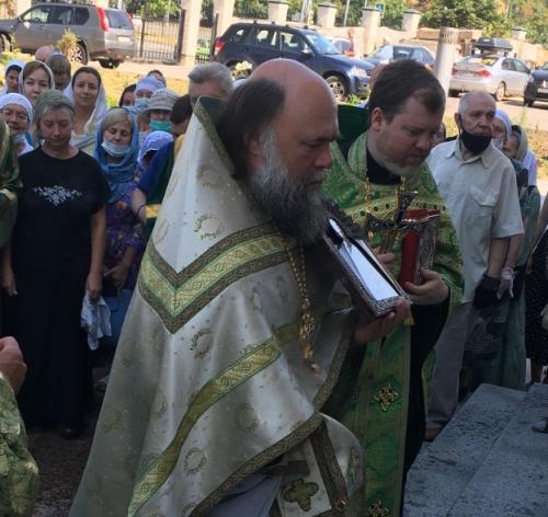 В храме прп. Андрея Рублева в Раменках отпраздновали день памяти чтимого святого покровителя