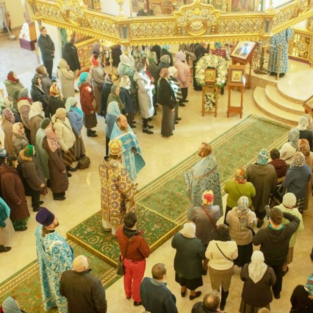 Архиерейское богослужение в храме святого благоверного Александра Невского  в день 75-летия университета МГИМО (видео)