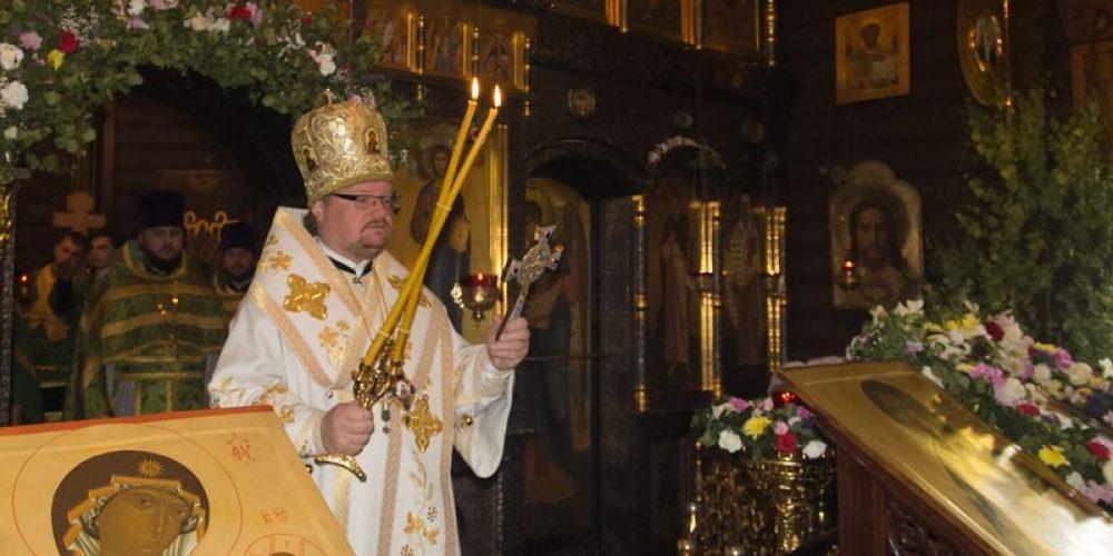 Епископ Выборгский и Приозерский Игнатий совершил Литургию в храме св. прав. Иоанна Русского в Кунцеве