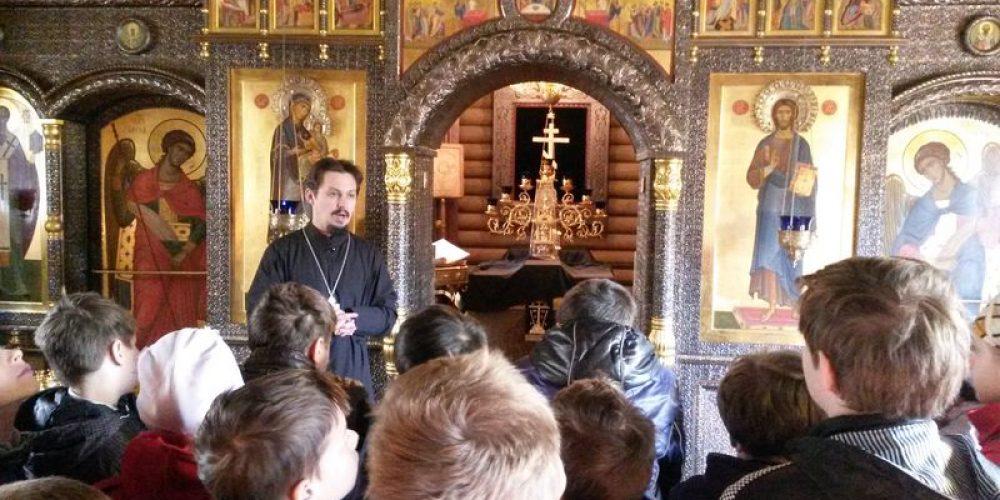 Урок в храме прав. Иоанна Русского по «Основам православной культуры»