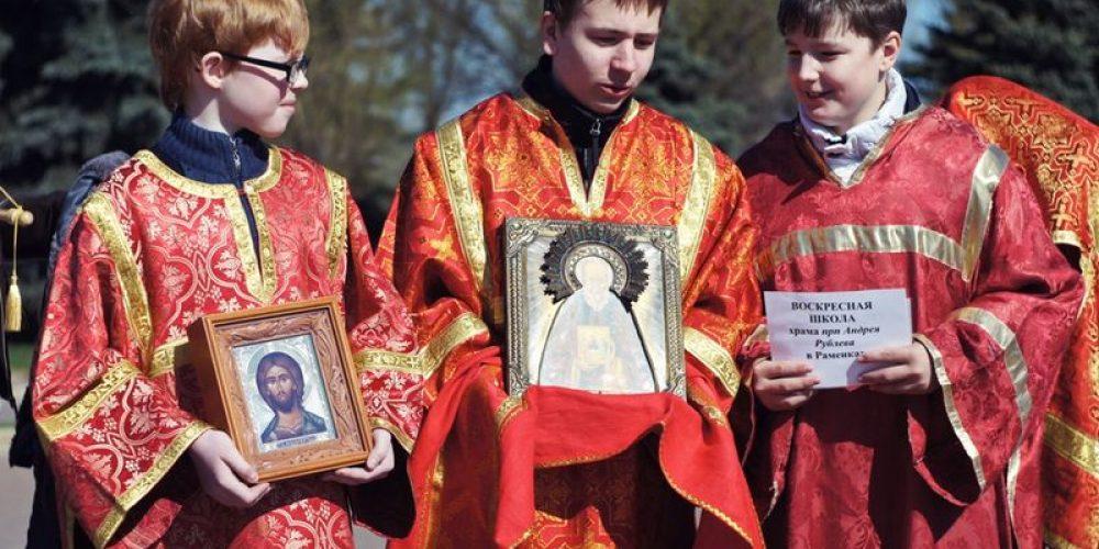 Храм Святителя Иова принял участие в проведении Детского Крестного хода