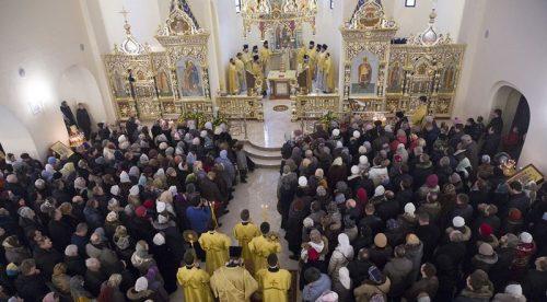 Епископ Егорьевский Тихон (Шевкунов) освятил храм при МГИМО