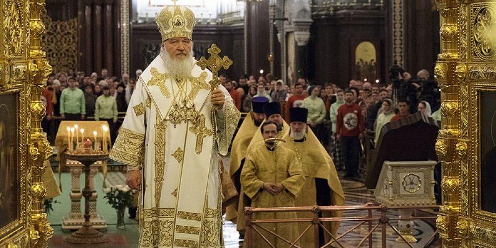 Святейший Патриарх Кирилл совершил в Храме Христа Спасителя в Москве молебное пение на новолетие