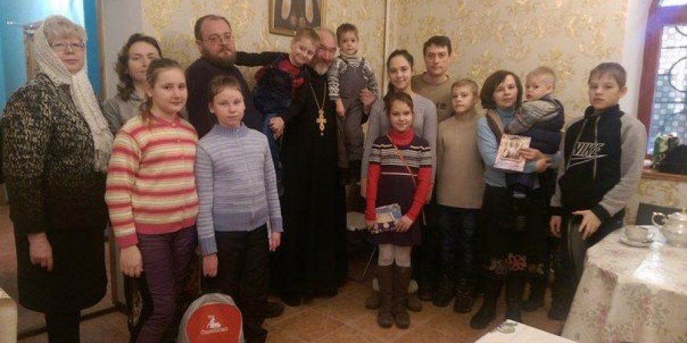Поздравление с Рождеством Христовым многодетных семей