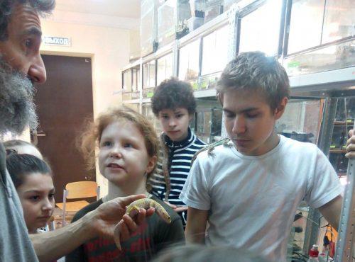 """Экскурсия детей воскресной школы в ГОУ школу-интернат для особо одарённых детей """"Интеллектуал"""""""