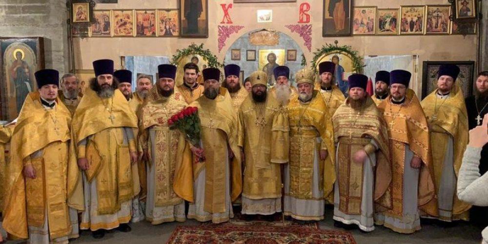 Торжественное богослужение в храме прп.Андрея Рублева в Раменках