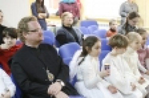 Воскресная школа, социальная служба и этно-студия «Ижица» храма Рождества Иоанна Предтечи на Пресне поздравили епископа Бронницкого Игнатия с тезоименитством