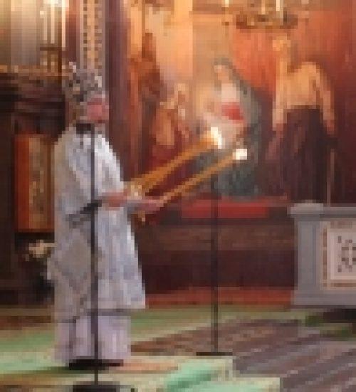 Епископ Бронницкий Игнатий возглавил Божественную литургию в Храме Христа Спасителя
