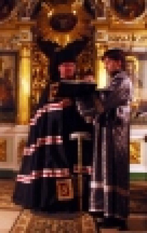 В среду епископ Бронницкий Игнатий совершил повечерие с чтением Великого канона прп. Андрея Критского в храме Рождества Иоанна Предтечи на Пресне