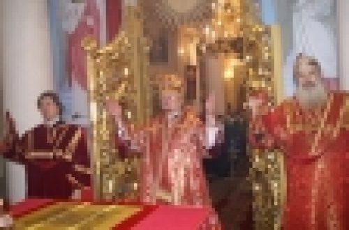 Епископ Бронницкий Игнатий возглавил торжественное богослужение в храме мучениц Веры, Надежды, Любови  и матери их Софии