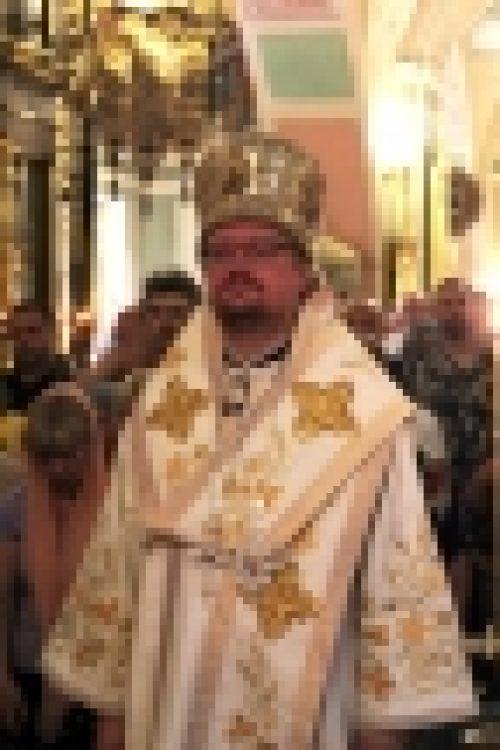 Епископ Бронницкий Игнатий совершил Всенощное бдение в храме Рождества Иоанна Предтечи на Пресне в канун праздника