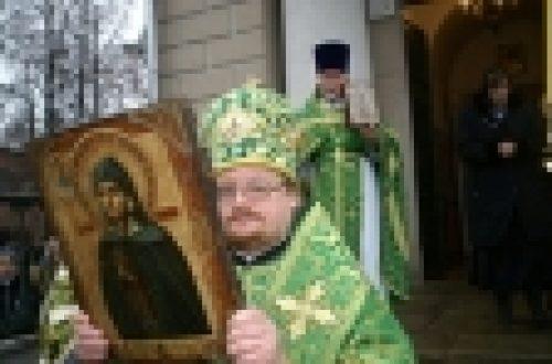 Епископ Игнатий совершил божественную литургию в храме Живоначальной Троицы