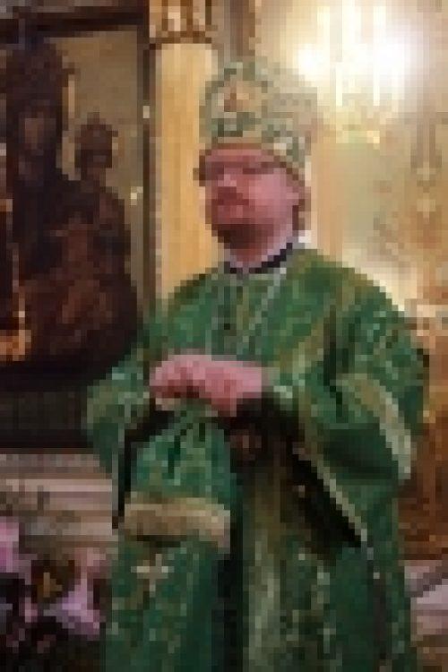 В праздник Входа Господня в Иерусалим епископ Бронницкий Игнатий совершил Божественную Литургию в храме Рождества Иоанна Предтечи на Пресне