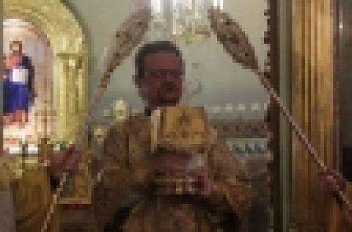 Епископ Бронницкий Игнатий совершил Божественную литургию в храме Рождества Иоанна Предтечи на Пресне