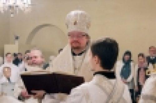 В праздник Крещения Господня епископ Бронницкий Игнатий совершил Литургию и чин великого освящения воды в храме Богоявления Господня