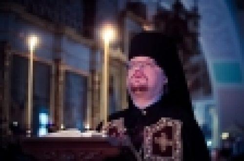 В четверг первой седмицы Великого поста епископ Выборгский и Приозерский Игнатий совершил богослужение в храме Рождества Иоанна Предтечи на Пресне