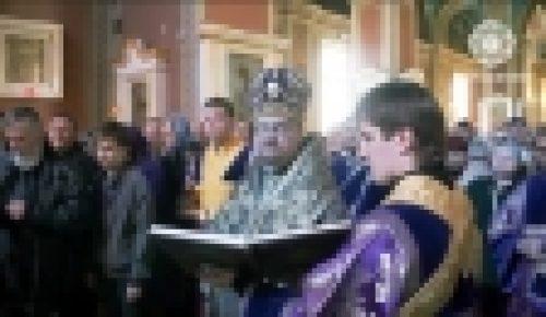 Видеосюжет о служение в Великий Четверг епископа Выборгского и Приозерского Игнатия: чин омовения ног
