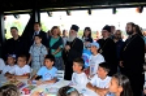 Патриарх Сербский Ириней и епископ Выборгский и Приозерский Игнатий посетили международный детский лагерь «Школа дружбы»