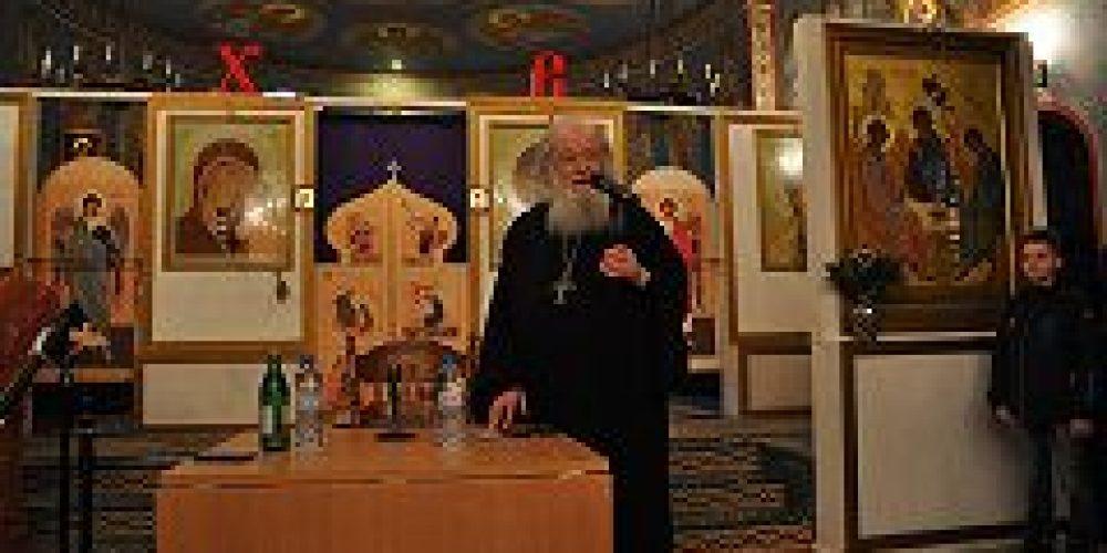 В храме Покрова Пресвятой Богородицы в Ясеневе состоялась встреча с протоиереем Валерианом Кречетовым