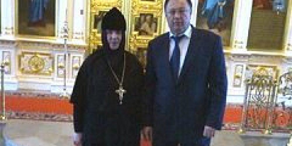 Префект Центрального административного округа города Москвы В.С. Фуэр посетил Богородице–Рождественский женский монастырь
