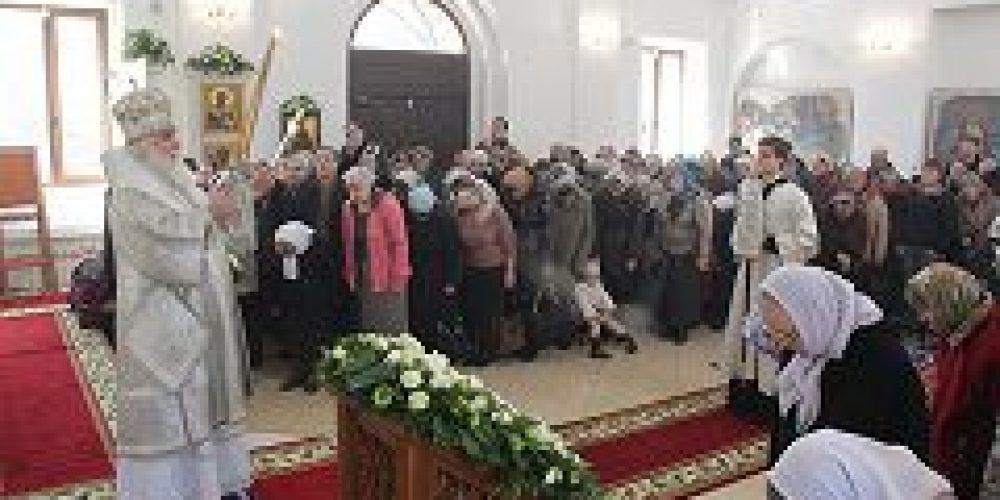 Митрополит Истринский Арсений совершил Божественную литургию в храме Входа Господня в Иерусалим в Бирюлеве