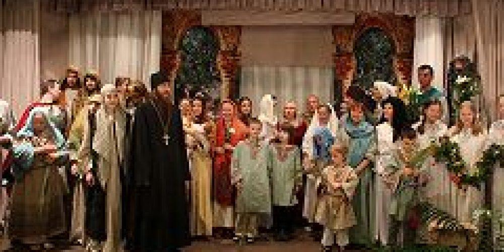 В Митрополичьих палатах Московского подворья Троице-Сергиевой Лавры сотоялся показ двух новых спектаклей