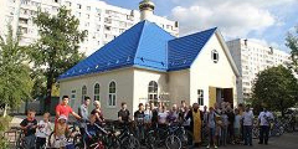 В храме сщмч. Серафима (Чичагова), митрополита Петроградского, открылся велоклуб «Серафимовцы»
