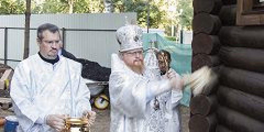 Епископ Подольский Тихон совершил чин освящения храма Иверской иконы Божией Матери в Бабушкине