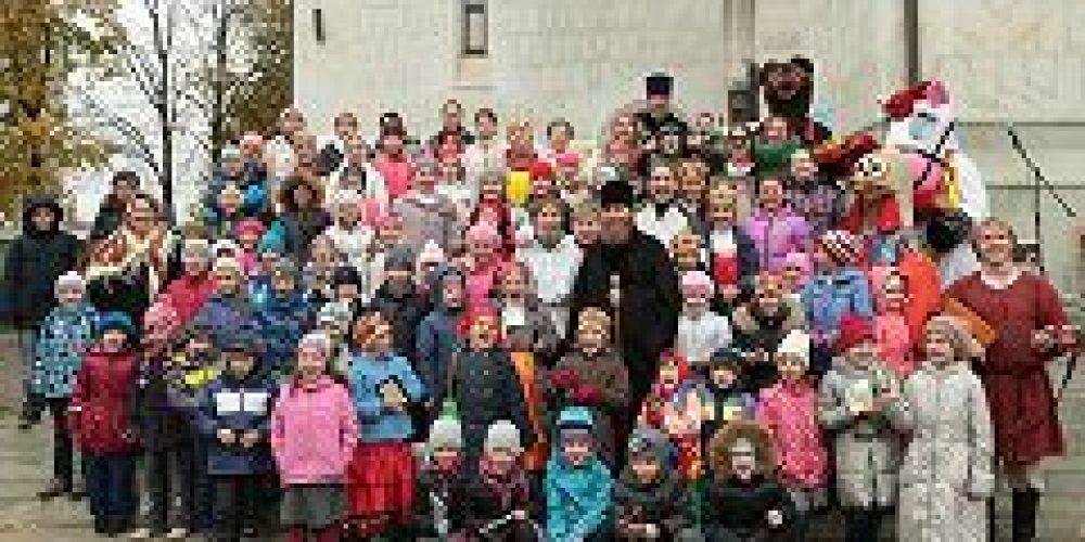 В Юго-Восточном викариатстве состоялся детский праздник, посвященный 700-летию со дня рождения прп. Сергия Радонежского