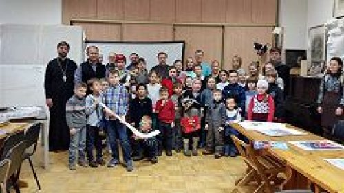 При храме святителя Николая на Трех Горах стартовал проект «Русский хоккей»
