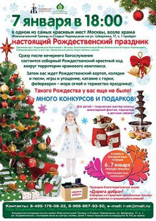 В рамках акции «Рождественский дар» социальная служба Андреевского благочиния собирает помощь малоимущим семьям