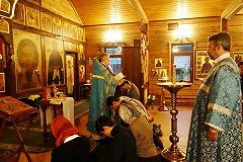 В храме преподобного Иосифа Волоцкого в Старом Беляеве совершен чин присоединения к Православной Церкви
