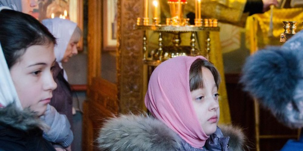 Детская Литургия и день именинника