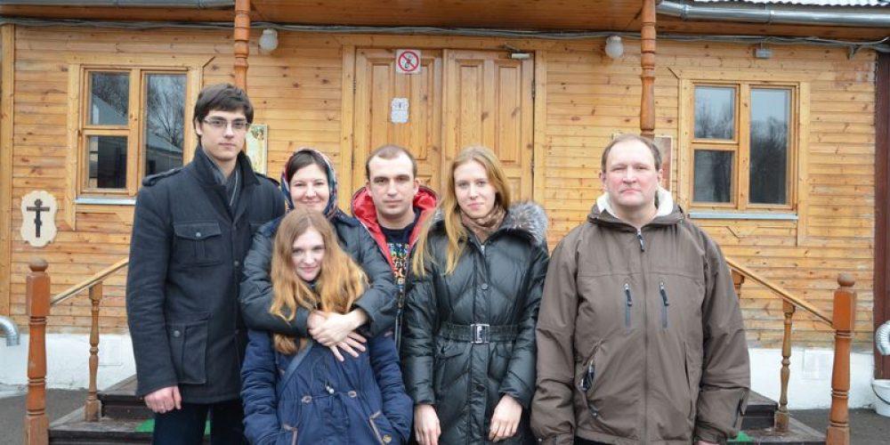 16 февраля 2014г. .на территории храма преподобного Серафима Саровского в Кунцеве прошло празднование дня православной молодежи