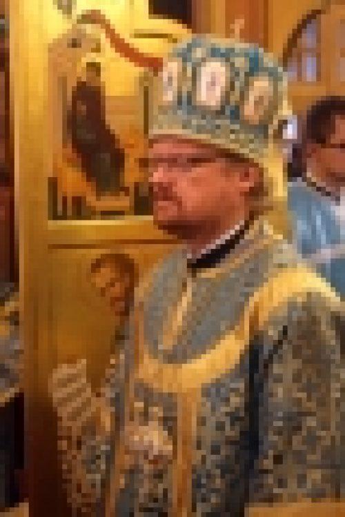В праздник Благовещения Пресвятой Богородице епископ Бронницкий Игнатий возглавил Божественную Литургию в храме Благовещение Пресвятой Богородице в Федосьино