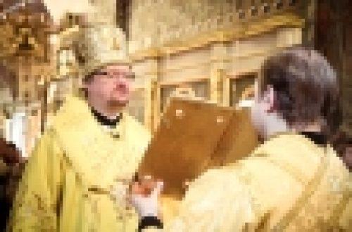 В праздник Торжества Православия епископ Выборгский и Приозерский Игнатий совершил Божественную Литургию в храме Рождества Иоанна Предтечи на Пресне