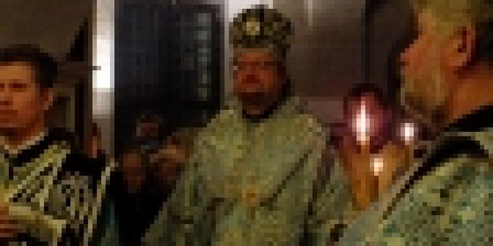 Епископ Выборгский и Приозерский Игнатий совершил Всенощное бдение в храме Покрова Пресвятой Богородицы в Филях