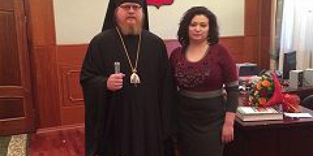 Епископ Подольский Тихон встретился с ректором РГСУ Л.В. Федякиной