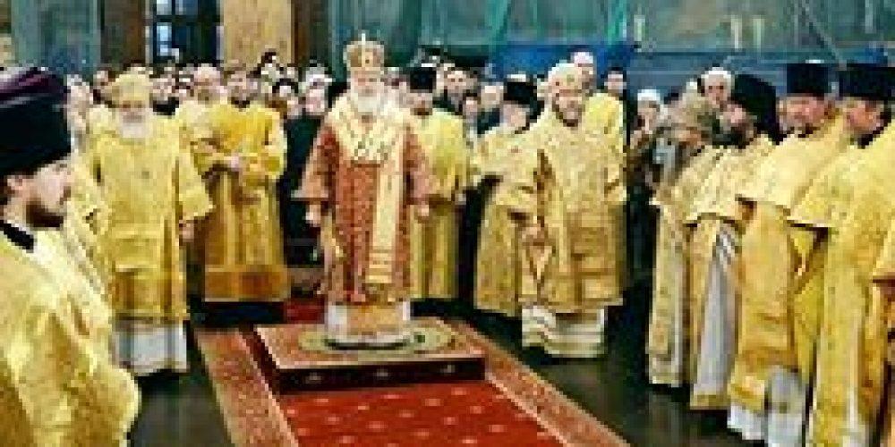В день памяти святителя Филиппа, митрополита Московского, Святейший Патриарх Кирилл совершил Литургию в Успенском соборе Кремля