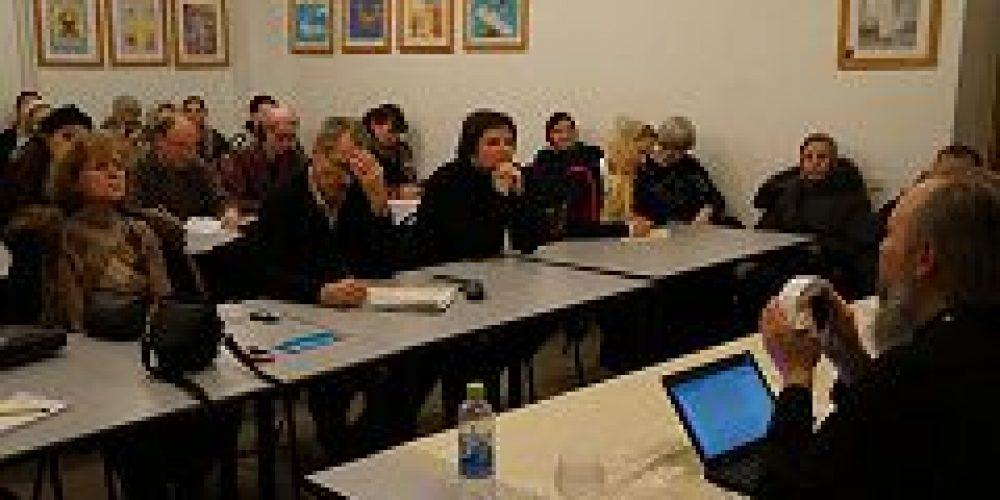 В Духовно-просветительском центре «Илiотропiонъ» состоялась лекция преподавателя Сретенской семинарии протоиерея Вадима Леонова