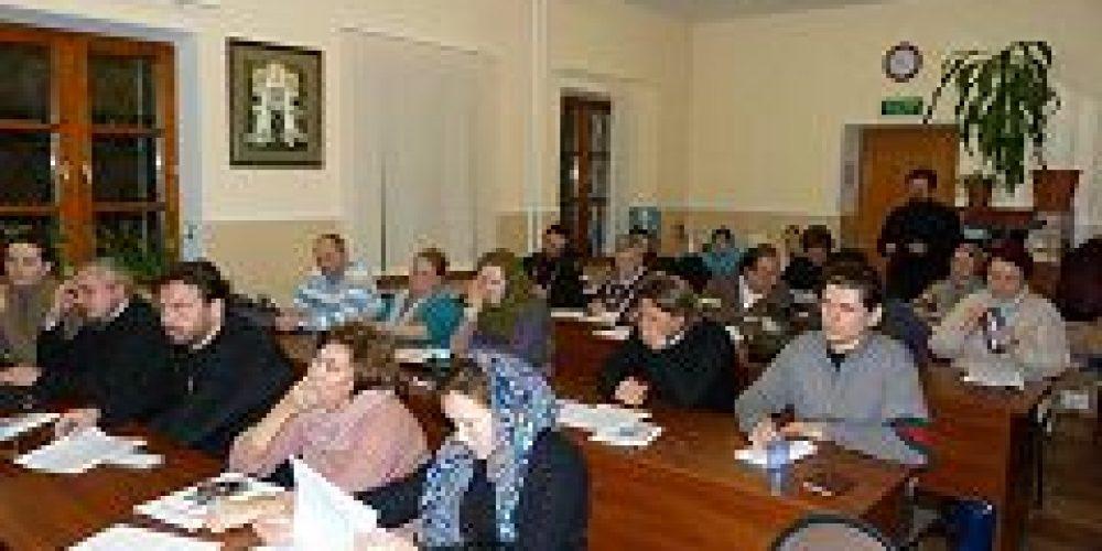 Состоялся объединенный семинар общественных методистов храмов Всехсвятского и Знаменского благочиний