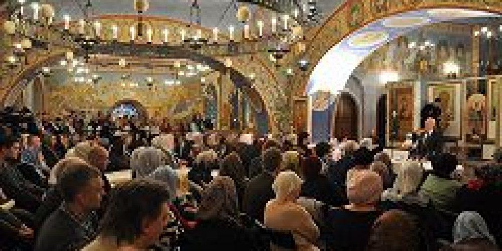 Профессор Московской духовной академии А.И.Осипов выступил лекцией в храме Покрова Пресвятой Богородицы в Ясеневе
