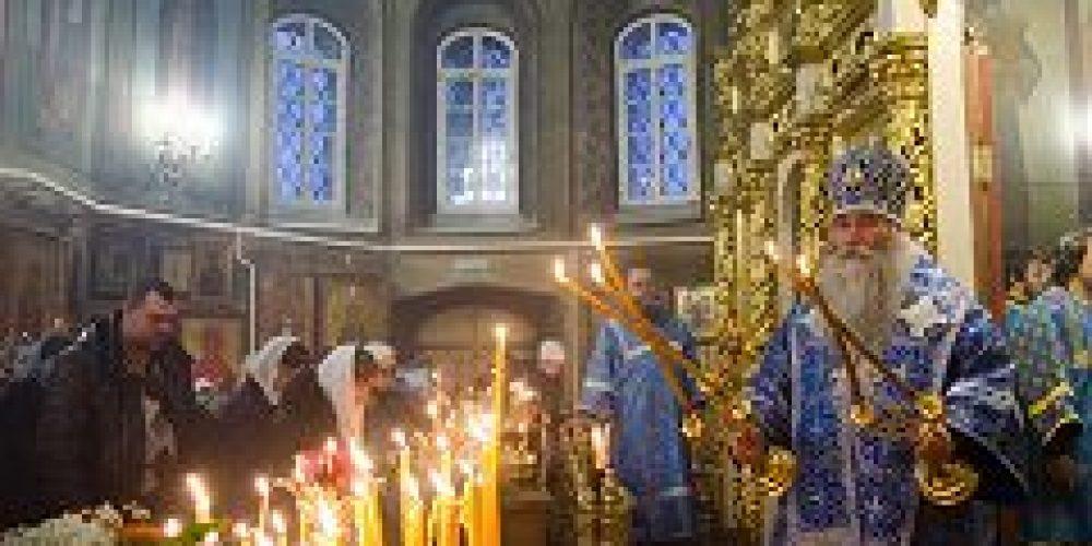 Епископ Дмитровский Феофилакт совершил Божественную литургию в храме Рождества Христова в Черневе