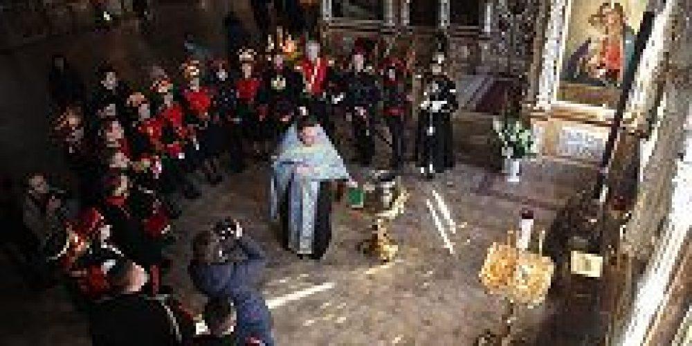 Студенты-юнкера Московского художественно-промышленного института посетили храм Всех святых на Соколе